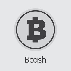 Bcash Cryptocurrency Coin. Vector Pictogram Symbol of BCH.