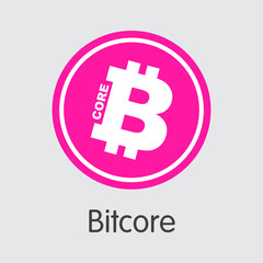Bitcore Cryptographic Currency. Vector BTX Pictogram Symbol.
