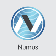 Numus Digital Currency Coin. Vector Icon of NMS.