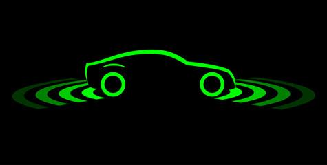 driverless car simple symbol