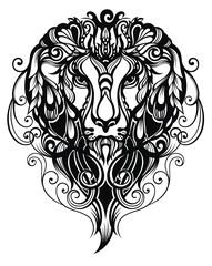 Tattoo  Lion Illustration
