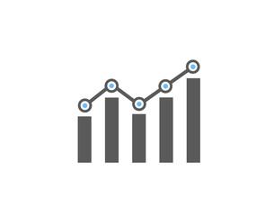 Modern Business Statistics Diagram symbol, icon
