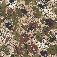 Splatter camouflage Ink paint  wallpaper  abstract vector seamless pattern