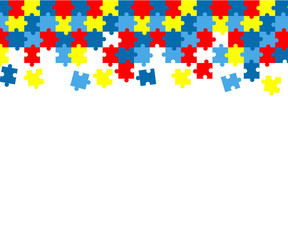 Colorful autism awareness puzzle background