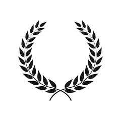 Vector laurel wreath isolated on white background