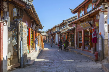 Fotobehang Beijing Ancient city of Lijiang in Yunnan