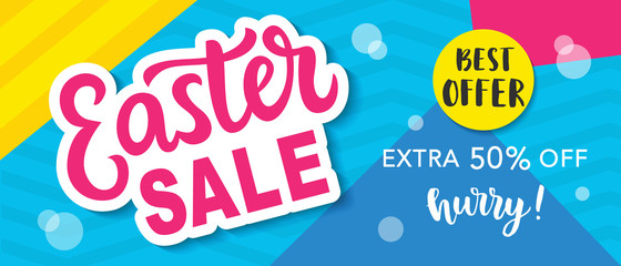 Easter Sale Banner Template Background