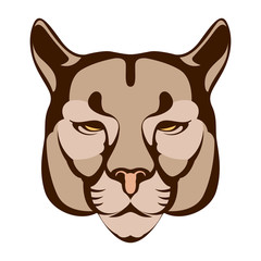 puma face  vector illustration flat style  front