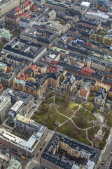 Aerial view of Stockholm, Sweden