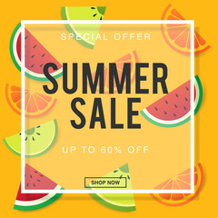 Summer sale background layout for banners,Wallpaper,flyers, invitation, posters, brochure, voucher discount