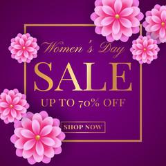 Women's Day sale banner.