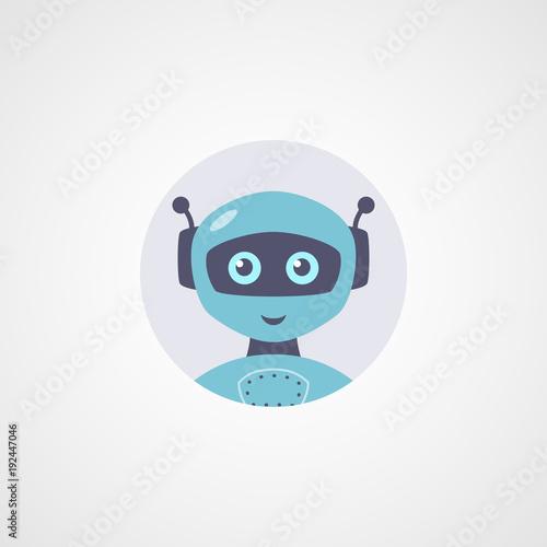 Vector robot flat icon