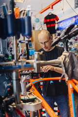 Small business owner of bicycle store