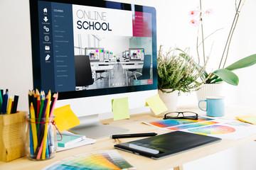 Graphic design studio online school