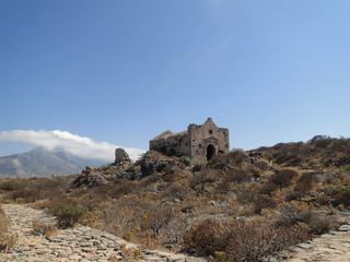 Gramvousa, an old fort on the Gercian island of Crete.