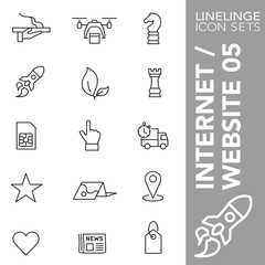 High quality thin line icons of website internet and commerce. Linelinge are the best pictogram pack unique linear design for all dimensions and devices. Stroke vector logo symbol and website content.