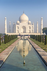 four minarets frame of the Taj Mahal, Agra, Uttar Pradesh, India
