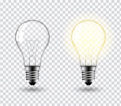 Light bulb vector.