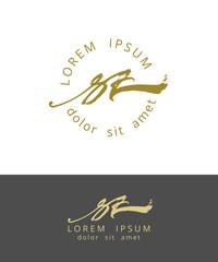S Z. Handdrawn Brush Monogram Calligraphy Logo Design