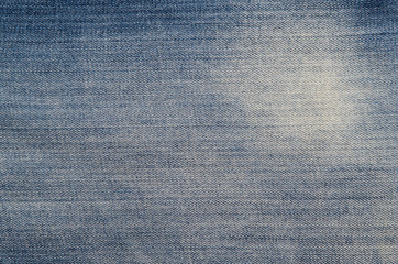 Texture of blue denim fabric