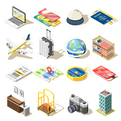 Travel Isometric Icons