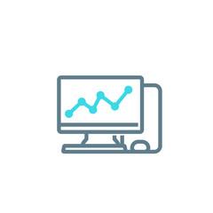 computer analysis vector icon