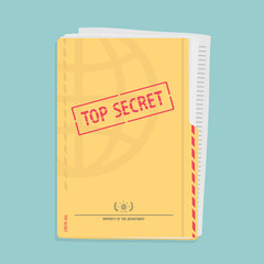 Secret Folder With Documents
