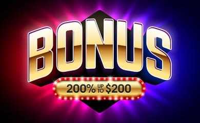 Welcome Bonus casino banner, first deposit bonus, vector illustration