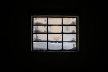 Window in dark room