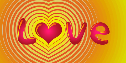 colorful love message