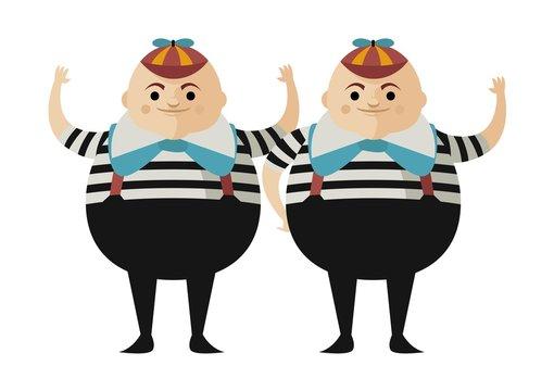 tweedledum and tweedledee alice in wonderland twins brothers