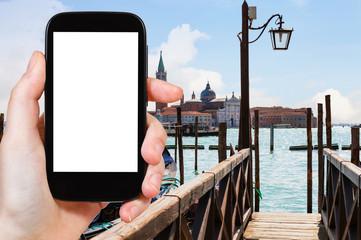 view of San Giorgio Maggiore from pier in Venice