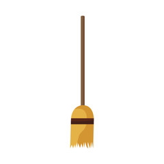 Broom stick tool icon vector illustration graphic design
