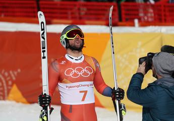 Olympics: Alpine Skiing-Mens Downhill
