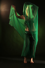 anonymous belly dance with veil