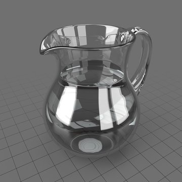Water pitcher with water
