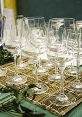 Wine glasses empty
