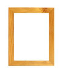 Wood frame or photo frame isolated on white background