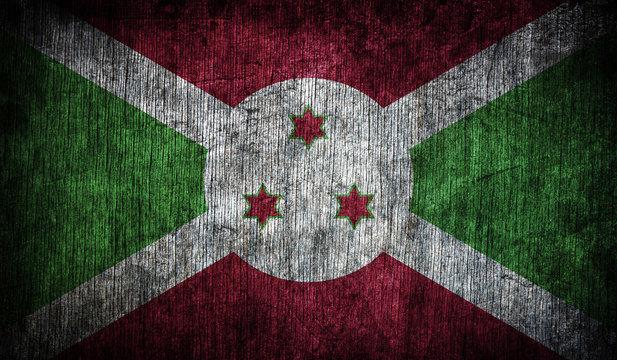 Abstract flag of Burundi, Africa