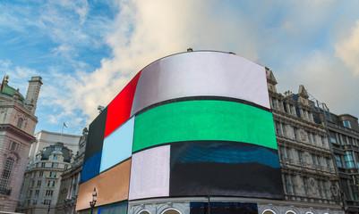 Piccadilly Circus Straßenkreuzung Londoner West End