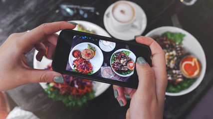 Food photo of healthy food. for social networks