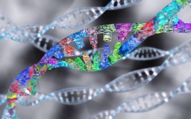 DNA, RNA spiral