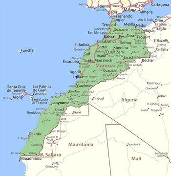 Morocco-World-Countries-VectorMap-A