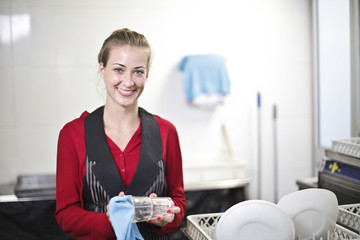 Smiling waitress at work