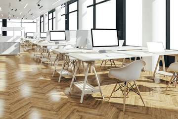 3d render of beautiful modern office interior