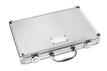shiny metallic case isolated on a white