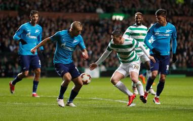 Europa League Round of 32 First Leg - Celtic vs Zenit Saint Petersburg