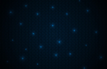 Black abstract background with blue lines, neon grid with reflections, vector illustration