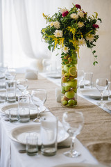 Wedding reception in wooden style