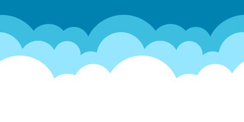 Vektor Illustration blaues horizontal endlos Wolken Muster für Hintergrund